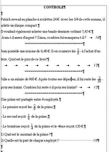 mathématiques faciles 4ème