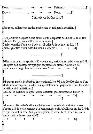 resolution de probleme de math 5eme