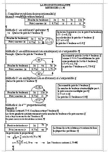 cours proportionnalité 3ème pdf